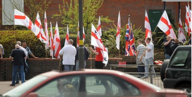National Front march outside The Kingstanding Pub on 2010